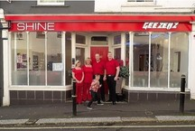 Shine_beauty_salon-geezers_barbers__falmouth_logo