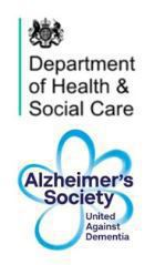 DHSC and Alzheimers Society